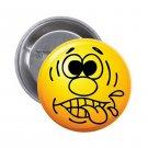 """1.25"""" Pinback Button Badge Emoji Smiley Face #4 'Buy 2 Get 1 Free'"""