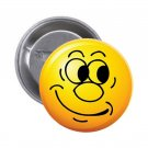 "1.25"" Pinback Button Badge Emoji Smiley Face #6 'Buy 2 Get 1 Free'"