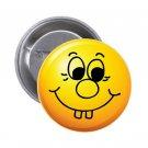 """1.25"""" Pinback Button Badge Emoji Smiley Face #8 'Buy 2 Get 1 Free'"""