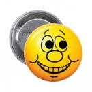 "1.25"" Pinback Button Badge Emoji Smiley Face #12 'Buy 2 Get 1 Free'"