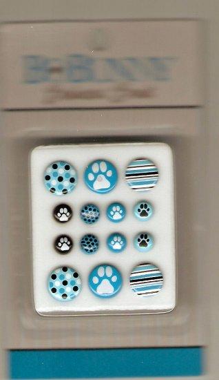 BoBunny Posh Pet Blue Bodacious Brads #654