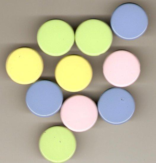 Round 25mm Pastel Brads #614