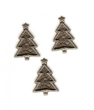Making Memories Pewter Christmas Trees #678b