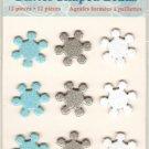 Deja Views Snowflake Glitter Brads #665