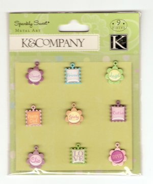 K & Company Sparkly Sweet Charms #430