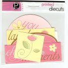 Pebbles Inc Printed Die Cuts Nellies Garden #565
