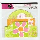 Pebbles Inc Printed Die Cuts Flower #562