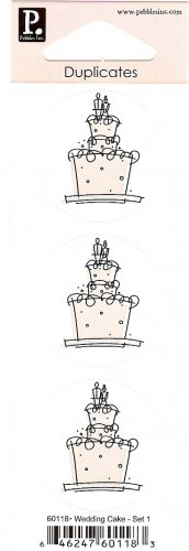 Pebbles Inc Duplicates Wedding Cake Set 1 #364