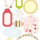 DCWV Glitter Stickers Journal Tags #319
