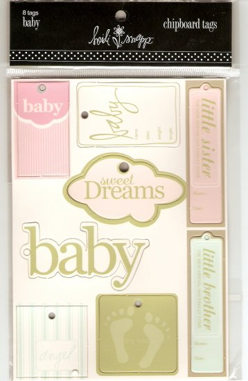 Heidi Swapp Chipboard Tags Baby #409