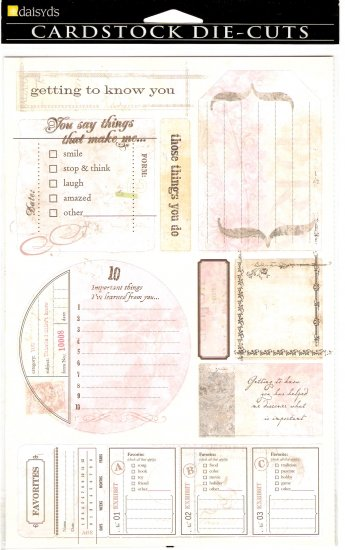 Daisy d's You Journaling Tags #362
