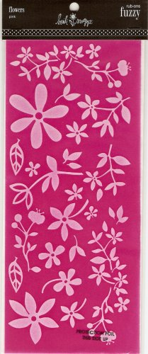 Heidi Swapp Fuzzy Flowers Pink #351