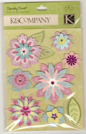K & Company Grand Adhesions Sparkly Sweet Sparkle Blossoms #913