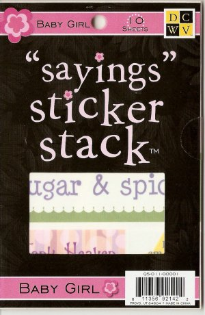 "DCWV ""Saying"" Sticker Stack Baby Girl #943"