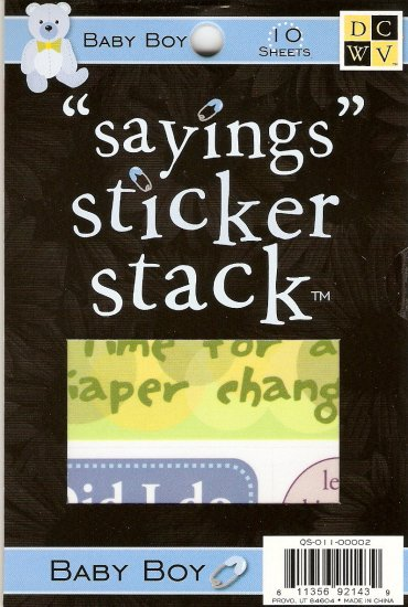 "DCWV ""Saying"" Sticker Stack Baby Boy #944"