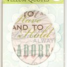 K & Company Vellum Quotes Wedding #940