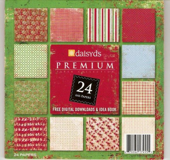 Daisy d's Paisley Sugarplum  6x6 Paper Pad #721