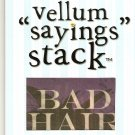 "DCWV Vellum ""Saying"" Stack Humor #948"