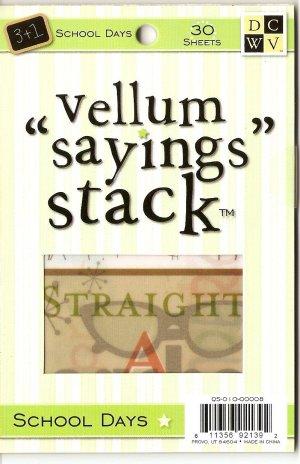 "DCWV Vellum ""Saying"" Stack School Days #946"