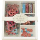 Prima Embellishment Kit Bright Pink #530