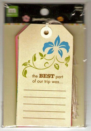 Making Memories Journaling Tags Tropical #424