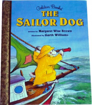 The Sailor Dog, By Margaret Wise Brown, Golden Books, Hardcover Children Picture