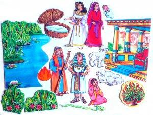 Felt Board Set, Moses, Educational Developmental Religious