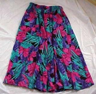 Alfred Dunner Tropical Soft Flare Skirt