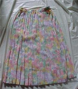 Alfred Dunner Pastel Pleated Skirt Size 12