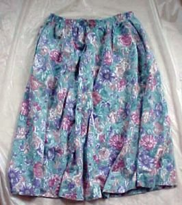 Alfred Dunner Womans Full Cotton Skirt For Summer - Size 12