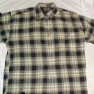 Chaps by Ralph Lauren Mans Plaid Short Sleeve Shirt - Size: Large