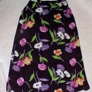 Wrapper Long Polyester Floral Straight Skirt - SZ Jr. Large