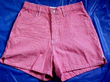 Bill Blass Jeanswear Red and White Checked Shorts NWT Size:6P