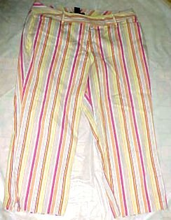 Venezia Ladies Cotton Cropped Capri Pants - Size 16