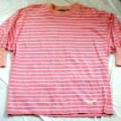 Dockers Salmon Stripped Cotton Knit Shirt Top - Size: Medium