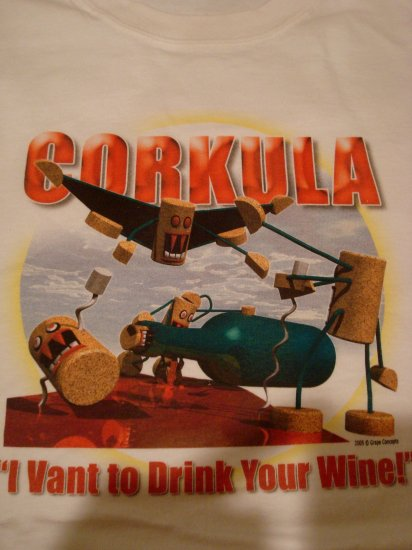 """Corkcula """"I Vant to drink your wine"""" Shirt"""
