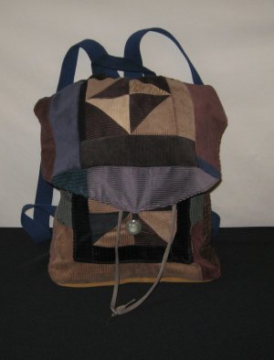 Earthtones Patchwork Backpack
