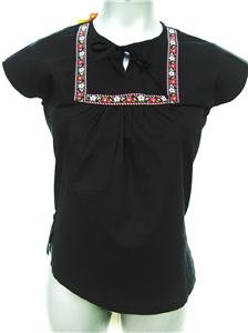 NWT FUNKY PEOPLE BOHO BLACK TOP SIZE MEDIUM