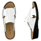NIB NEW DUCK HEAD WHITE LEATHER SANDALS SIZE 9
