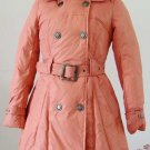 2011 NEW Prancing Leaves Ladies'double-breasted DOWN JACKET with Rex Rabbit Hair Collar&Hoody