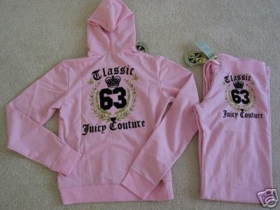 NWT Juicy Couture Classic 63 Set - Small, Medium, Large Available- Pink