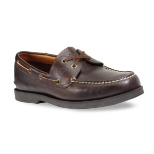 """TIMBERLAND DARK BROWN LEATHER """"YOUNGSTOWN"""" BOAT #83591"""