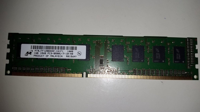 Micron 2GB PC3 8500 (DDR3 1066) 240 Pin Desktop Memory