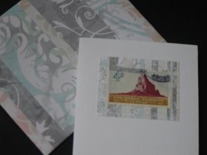 Handmade Card featuring US Stamp 1191 - 4c New Mexico