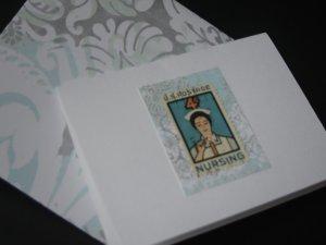 Handmade Card featuring US Stamp 1190 - 4c Nursing