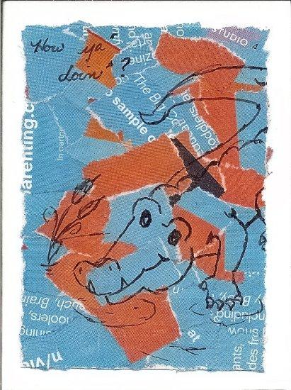 Handmade Crocodile Notecard - How Ya Doin