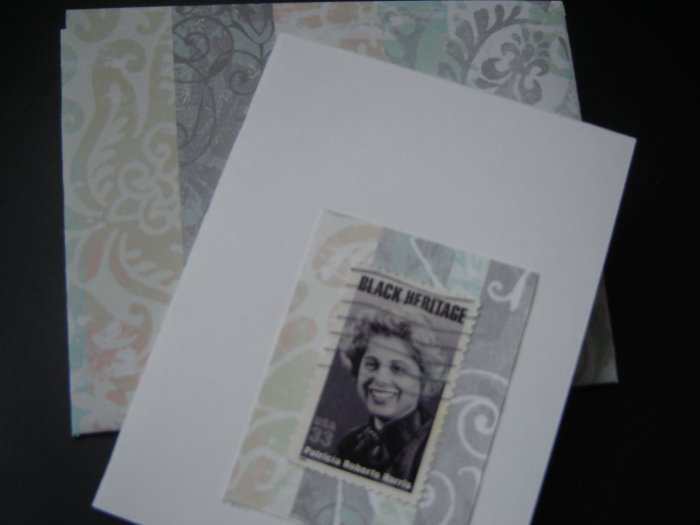 Handmade Card featuring US Stamp 3371 - 33c Patricia Roberts Harris