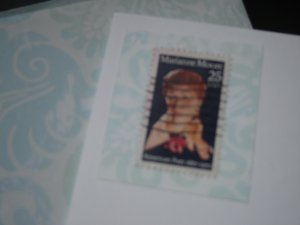 Handmade Card featuring US Stamp 2449 - 25c Marianne Craig Moore