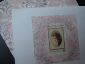 Handmade Card featuring US Stamp 1926 - 18c Edna St. Vincent Millay