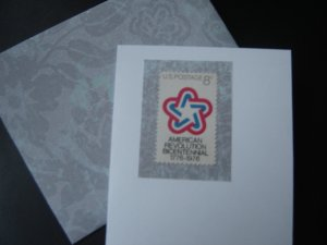 Handmade Card featuring US Stamp 1432 - 8c American Revolution
